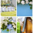 Collection of wedding decoration images. — Stock Photo #70612863