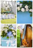 Collection of wedding decoration images. — Stock Photo