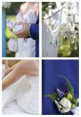 Collection of images associated with wedding ceremony. — Stock Photo