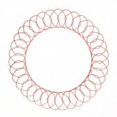 Drawing spirograph on white paper — Stock Photo