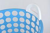 Blue basket isolated on white — Stock Photo