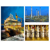 Oil And Gas Industry collage — Stock Photo