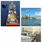 Collage de la industria del petróleo y gas — Foto de Stock
