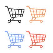 Winkelen pictogrammen gemaakt van plasticine — Stockfoto