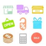 Shopping icon plasticine on a white background — Stock Photo #55255111