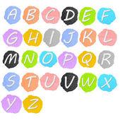 Colorful plasticine alphabet isolated over white background — Stock Photo