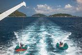 Dinghy boats on Similan Island, Thailand — Stock Photo