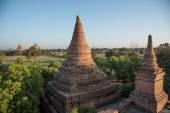 Bagan, MYANMAR - DEC 19: The Temples of , Bagan at sunrise, Mand — Stock Photo