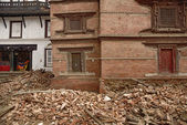 Durbar Square which was severly damaged after the major earthquake on 25 April 2015. — Stock Photo