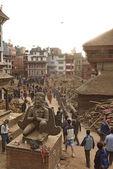 KATHMANDU, NEPAL - APRIL 29, 2015: Durbar Square which was sever — Stock Photo
