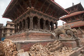 KATHMANDU, NEPAL - APRIL 29, 2015: Patan dubar Square which was  — Stockfoto
