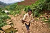 Mu Chang Chai, VIETNAM, JUN 12: Unidentified farmers working in  — Stock Photo