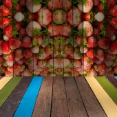 The art of painting strawberry on background — Stock Photo