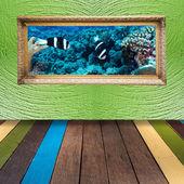 木製の背景を塗ることの芸術 — ストック写真