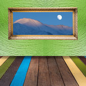 The art of painting wooden background — Stock Photo