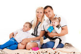 Caucasian family with young children — Стоковое фото