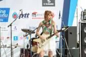 Miyazawa Marin (Guitar) from LoVendor Group in Japan Festa in Bangkok 2014 — Stock Photo