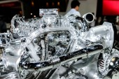 Complex engine of Nissan car. — ストック写真