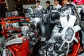 Complex engine of Nissan NAVARA. — Stock Photo