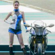 Постер, плакат: Unidentified Model with Yamaha R1m