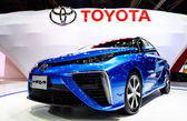 Toyota Mirai, Hydrogen engine vehicle — Stock Photo