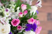 Bouquet Of Purple And Pink Flowers — Stock Photo
