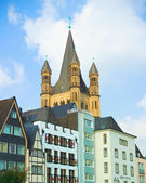 Church in Cologne, Germany and neighborhood — Stock Photo