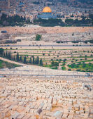 Al-Aqsa Mosque and the old Jewish cemetery — ストック写真