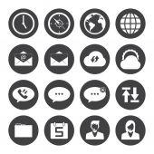 Mobiele telefoon pictogrammen — Stockvector