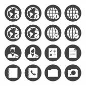 Mobile phone icons network set — Stock Vector