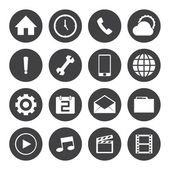 Mobile icons set — Stockvector