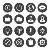 Mobile phone icons connection set — Stock Vector