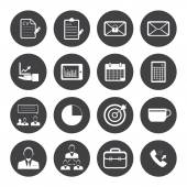 Business and office icons set. — Stock Vector