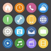 Iconos del teléfono móvil — Vector de stock
