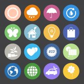 Eco icons set. — Stock Vector