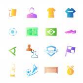 Soccer football icons — Stock Vector