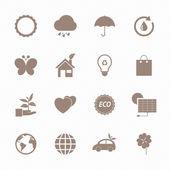Eco icons set — Stock Vector
