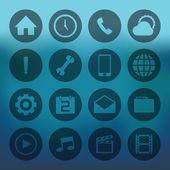 Circle mobile icons set — Stockvector