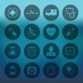 Medical ikony zestaw kolekcja — Wektor stockowy
