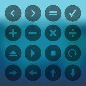 Calculator and computer — Stockvektor