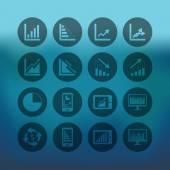 Business Graph icons set — Stockvektor