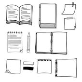 Hand drawing stationary design set — Stock Vector