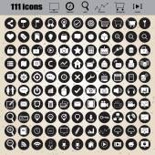 Web design icons set vector — Stok Vektör