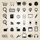 Web design icons set vector — Stockvektor