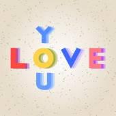 Ilustração de alfabeto amor colorido — Vetor de Stock