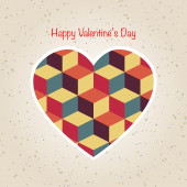 Abstract valentine's day retro geometric pattern — Stock Vector