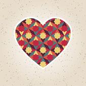 Abstract valentine's day retro geometric pattern — Wektor stockowy