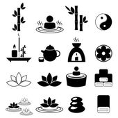Set of spa and massage icons — Wektor stockowy