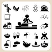 Set of spa and massage icons — ストックベクタ