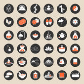 Set of spa and massage icons — Stock Vector